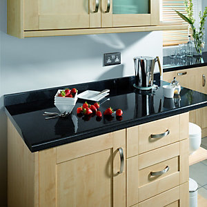 Wickes Taurus Black Gloss Effect Upstand 3m