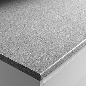 Wickes Worktop Matt Laminate Dapple Slate 2000 x 600 x 28 mm