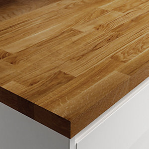Wickes Solid Wood Dark Oak Worktop 38x600mmx3m