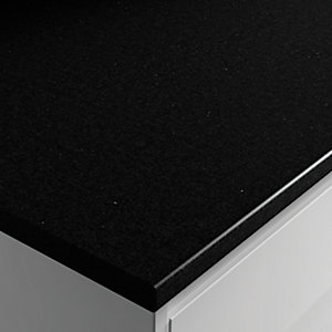 Wickes Worktop High Definition Black Matt 2000 x 600 x 28 mm