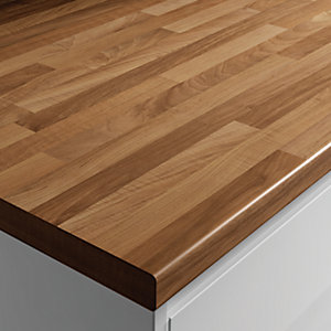 Wickes Blocked Oak Grain Effect Worktop 38x600mmx3m