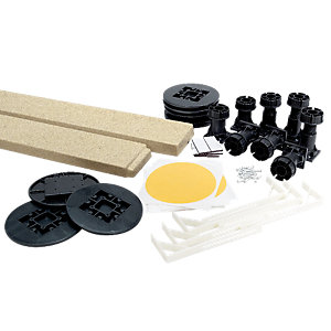 Wickes Easi Plumb Kit for Square/Rectangular Shower Tray Tan