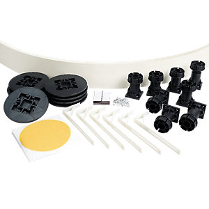 Wickes Easi Plumb Kit for Quadrant/Offset Quadrant Shower Tray Frosted