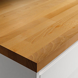 Wickes Solid Wood Dark Beech Worktop 38x600mmx3m