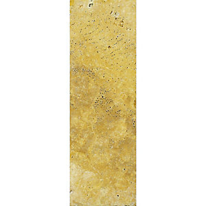 Wickes Yellow Tumbled Travertine Border Tile 305x10mm