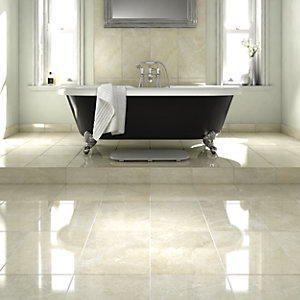 Wickes Grey Polished Marble Wall & Floor Tile 305 x 457mm