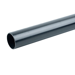 Osma PVC-C 40mm Solvent Weld Waste Black Plain End Pipe 3m