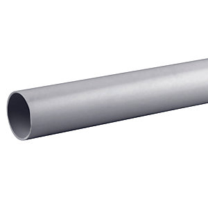 OsmaWeld 4Z074G 32mm Plain Ended Pipe 4m Grey