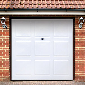 Wickes Georgian Grp Garage Door White 2134 x 2135mm