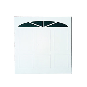 Wickes Bronte Glosswhite Framed Canopy Garage Door 2438x2134mm