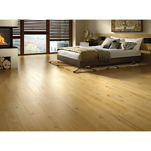 Wickes Honey Oak Solid Wood Flooring