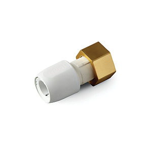 Hep2O HD25B/22W Straight Tap Connector 3/4in x 22mm White