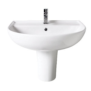 Wickes Renata Round Basin with Semi Pedestal 500mm