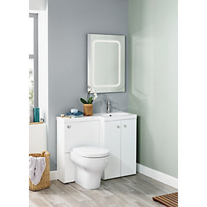 Wickes L-shaped Vanity Unit and Basin Rh