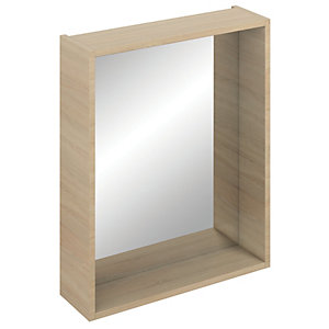 iflo Aliano Bathroom Mirror Box Oak 600mm