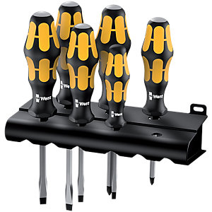 Kraftform Plus Heavy Duty Chiseldriver Screwdriver Set 6pc SL/PZ 5018287009