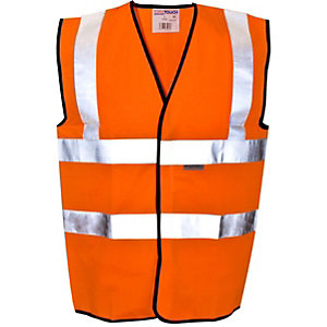 Bunzl Uk Hi-vis Orange Waistcoat Large EN471