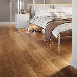 Wickes Tanned Bamboo Solid Wood Flooring Sample
