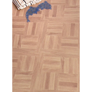 Wickes Vinyl Tiles Parquet Oak 305 x 305mm 6 Pack