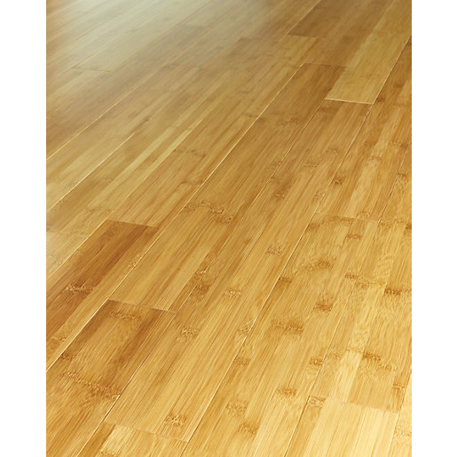 Wickes tanned bamboo solid wood flooring for Real oak hardwood flooring