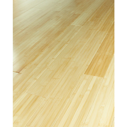 Wickes natural bamboo solid wood flooring for Solid hardwood flooring