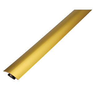 Wickes Flooring T-Bar & Reducer Gold 900mm