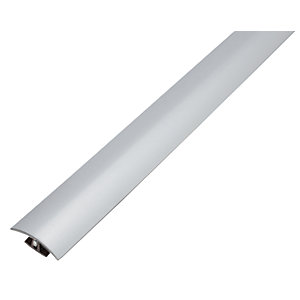 Wickes Flooring T-Bar & Reducer Silver 1.8m