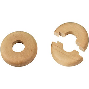 Wickes Real Wood Pipe Surrounds Light Wood Effect 2 Pack