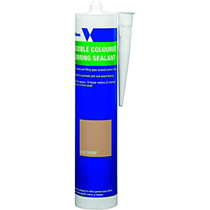 Wickes Flexible Flooring Sealant Light Brown 310ml