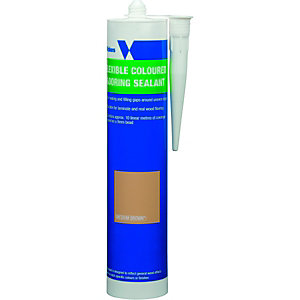 Wickes Flexible Flooring Sealant Medium Brown 310ml
