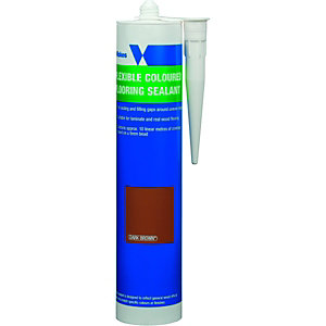 Wickes Flexible Flooring Sealant Dark Brown 310ml