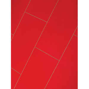 Wickes High Gloss Red Laminate Flooring