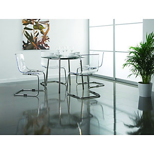 Wickes High Gloss Grey Laminate Flooring