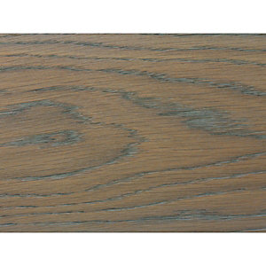 Wickes Oak Grey Real Wood Top Layer Engineered Wood Flooring