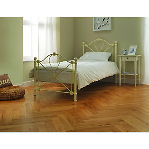 Wickes Herringbone Limed Oak Real Wood Top Layer Engineered Wood Flooring