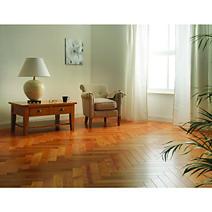 Wickes Herringbone Cherry Real Wood Top Layer Engineered Wood Flooring