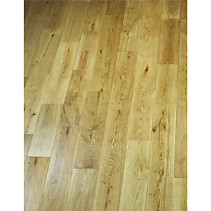 Wickes Natural Oak Real Wood Top Layer Engineered Wood Flooring