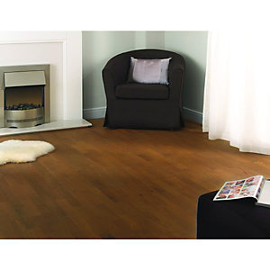 Wickes Cappuccino Oak Real Wood Top Layer Engineered Wood Flooring