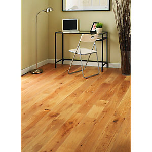 Wickes Limed Oak Real Wood Top Layer Engineered Wood Flooring