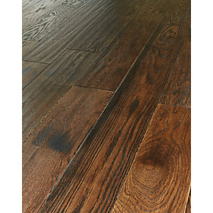 Wickes Gunstock Oak Real Wood Top Layer Engineered Wood Flooring