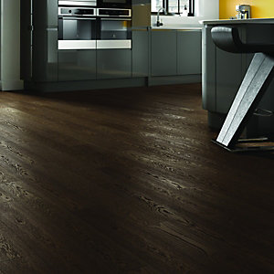Wickes Jacobean Oak Real Wood Top Layer Engineered Wood Flooring