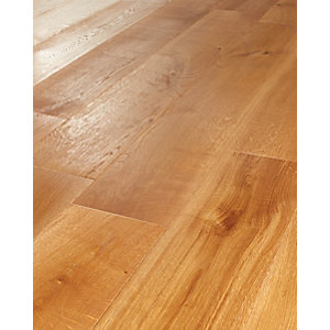 Wickes Golden Harvester Oak Real Wood Top Layer Engineered Wood Flooring