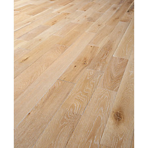 Wickes White Washed Oak Solid Wood Flooring