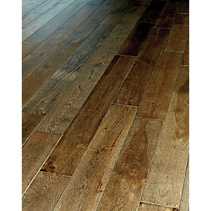Wickes Dark Oak Solid Wood Flooring