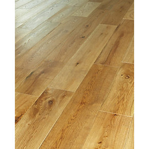 Wickes Cafe Oak Solid Wood Flooring