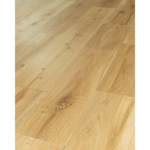 Wickes Pale Oak Solid Wood Flooring