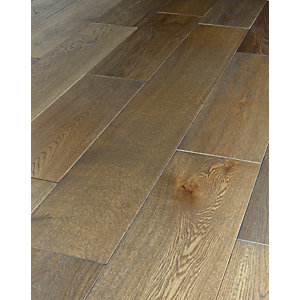 Wickes Dark Grey Oak Solid Wood Flooring