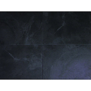 Wickes Vinyl Tiles Black 305 x 305mm 6 Pack