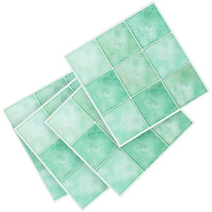Wickes Vinyl Tiles Aqua Squares 305x305mm 11 Pack