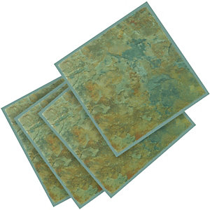 Wickes Vinyl Tiles Slate Effect 305x305mm 11 Pack
